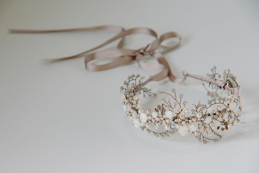 Mother of Pearl Floral Crown