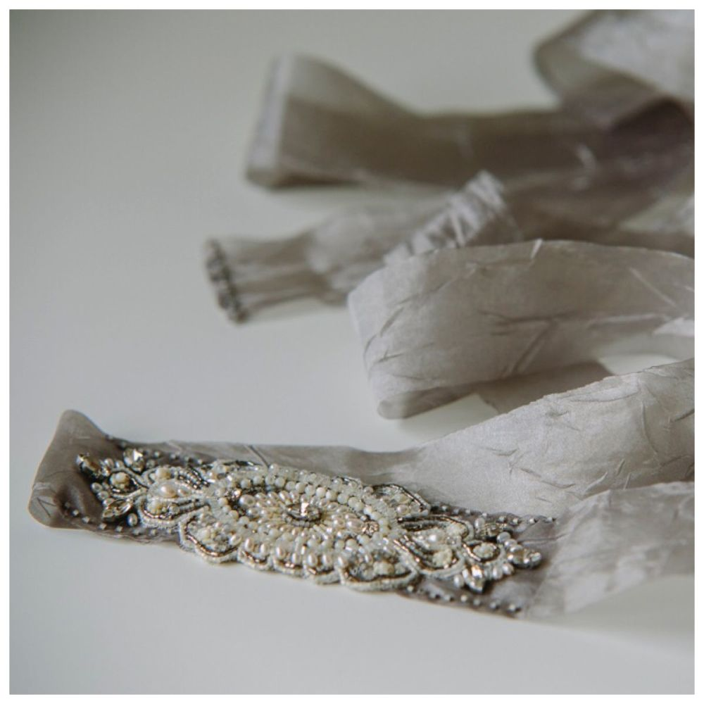 Silver and Pearl Sash
