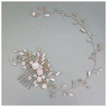 Gardenia Hair Vine