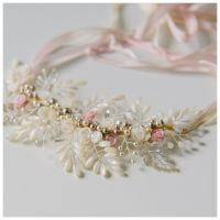 Gardenia Headpiece and Necklace