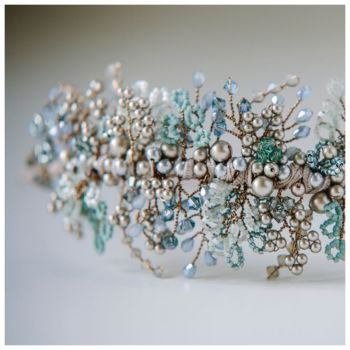 AQUAMARINE | Vintage Wedding Headband