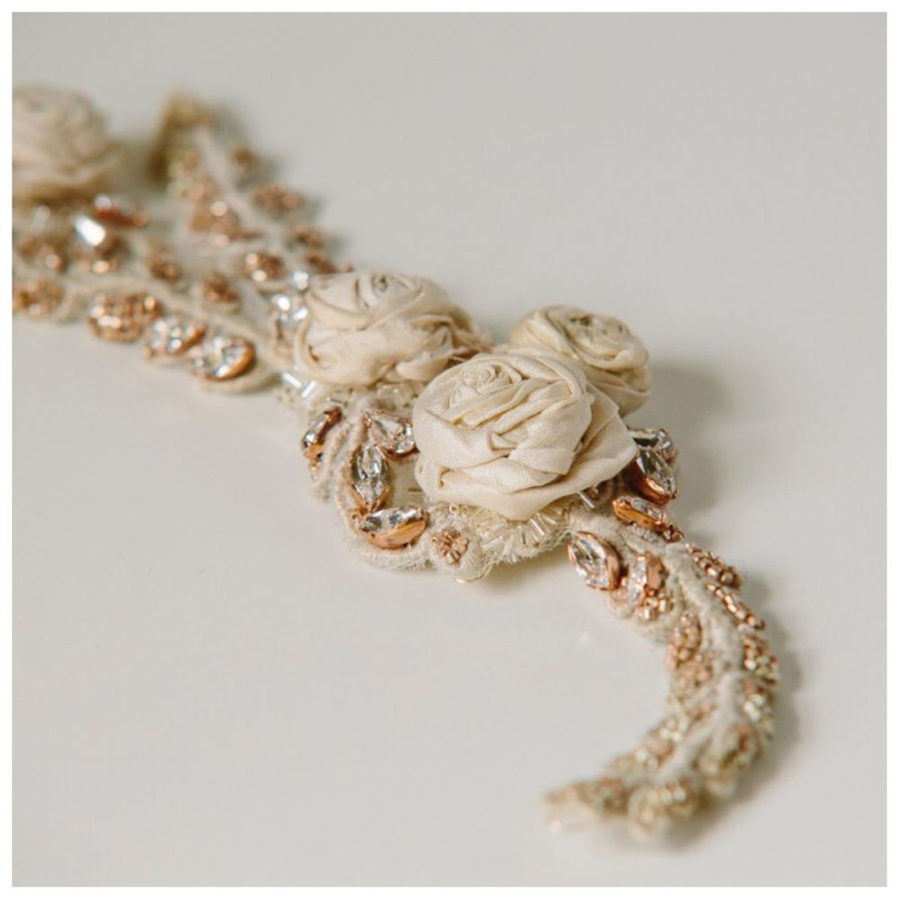 Ivory Rose Lace Headpiece