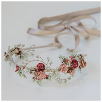 MIDSUMMER NIGHT'S DREAM | Floral Bohemian Bridal Headpiece
