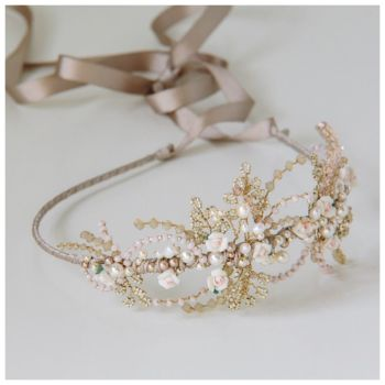 PORCELAIN ROSE | Floral Bridal Headdress