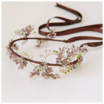 WISTERIA | Purple and Mauve Floral Wedding Headdress