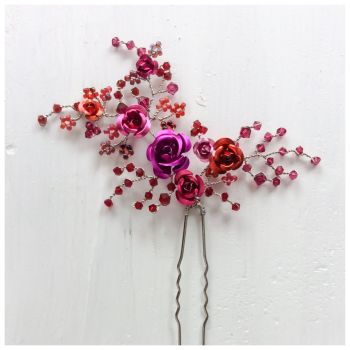 Rose Red Hair Pin