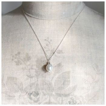 Pearl Victoriana Pendant Necklace