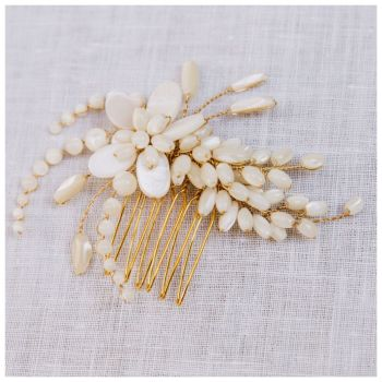 ASTOR | Mother of Pearl Small Bridal Hair Comb