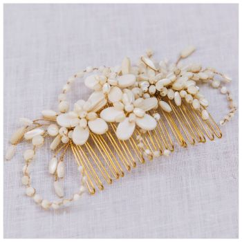 ASTOR | Mother of Pearl Large Bridal Hair Comb