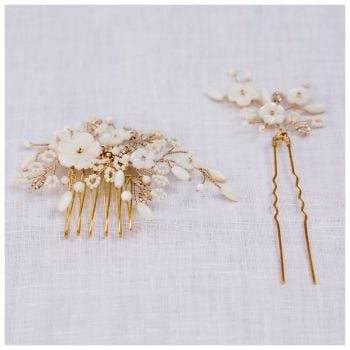 Cherry Blossom Comb and Pin Set