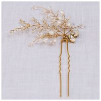 FERN | Jewelled Statement Crystal and Pearl Bridal Hair Pin