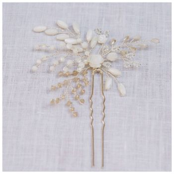 GARDENIA | Floral Mother of Pearl Wedding Hair Pin