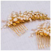 Gold Grecian Pearl Comb (small)