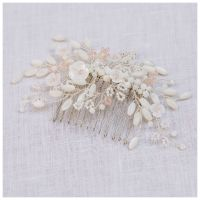 MAGNOLIA | Floral Mother of Pearl Bridal Hair Comb