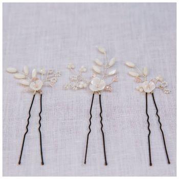Magnolia Hair Pin Set