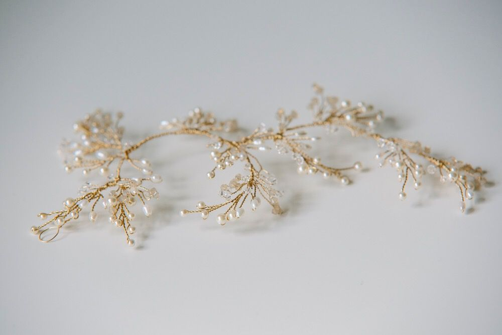 Ivy headpiece in gold