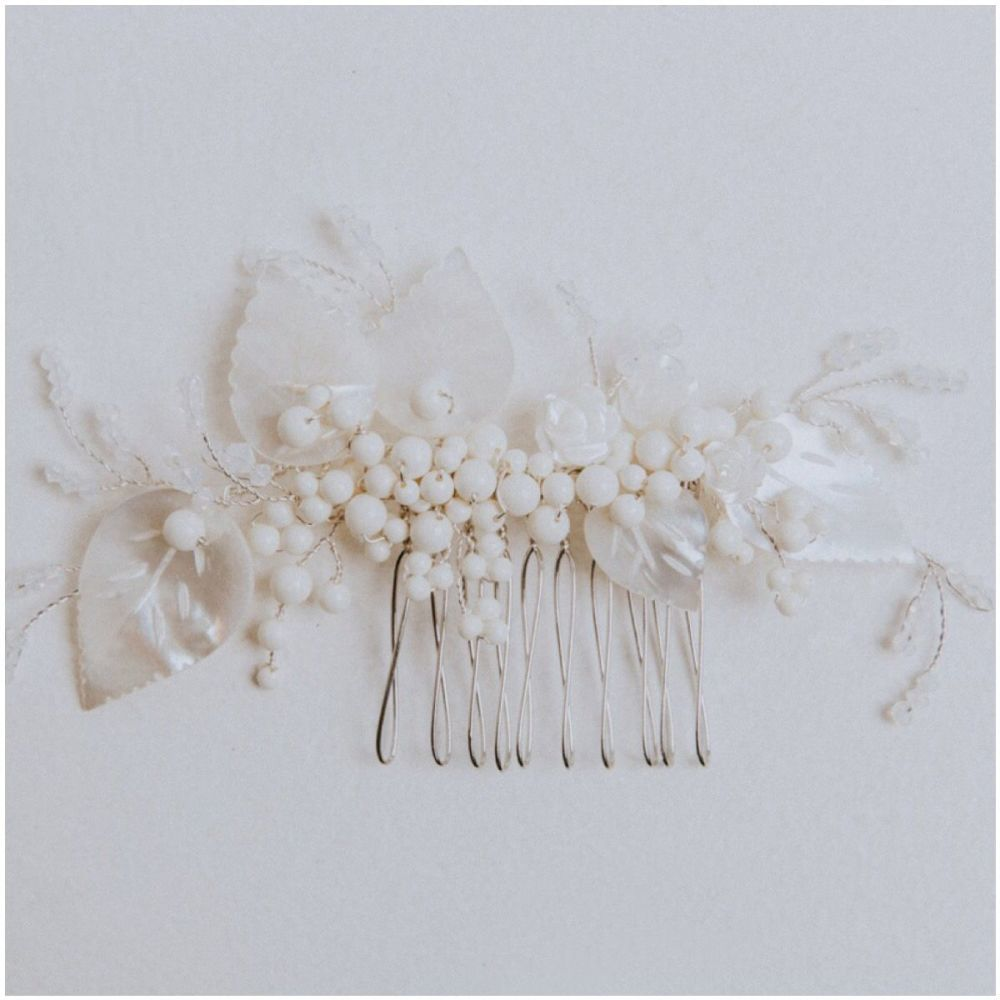Gardenia Vintage Leaf Hair Comb