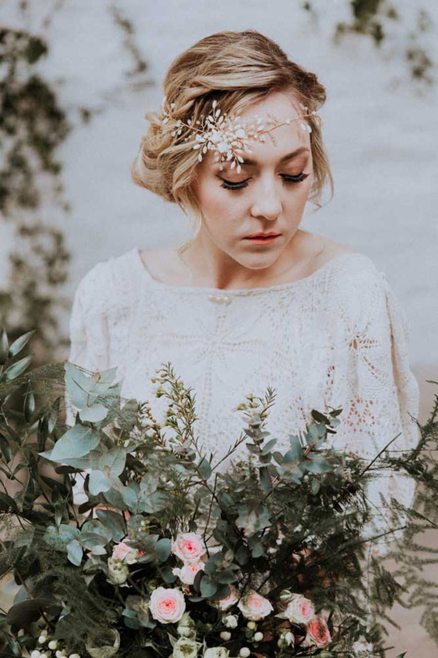Oxi Photography Gardenia Headpiece by Clare Lloyd