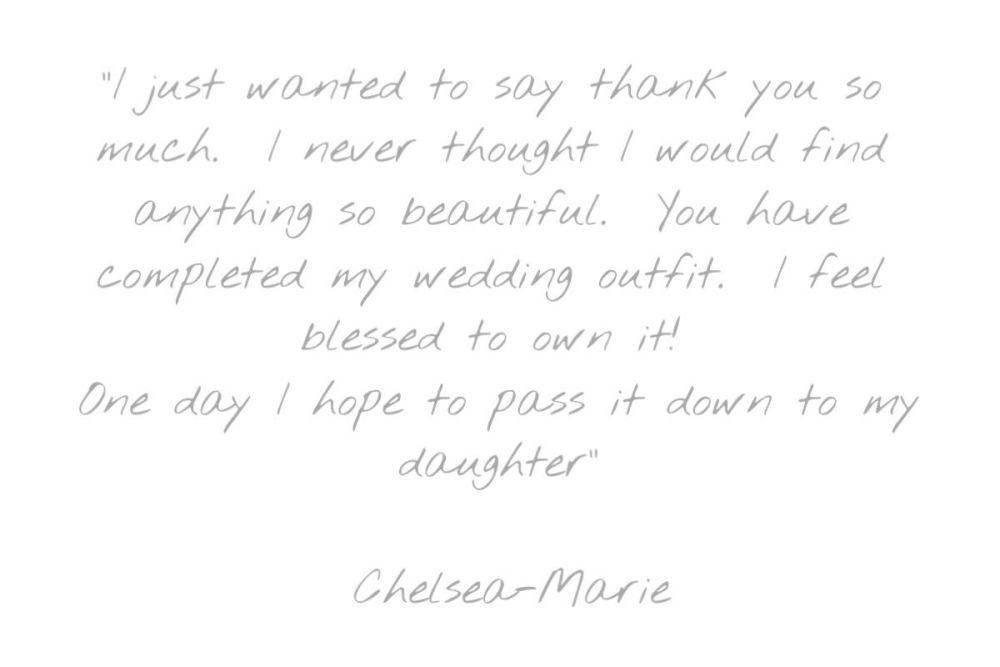 Testimonial - Chelsea Marie