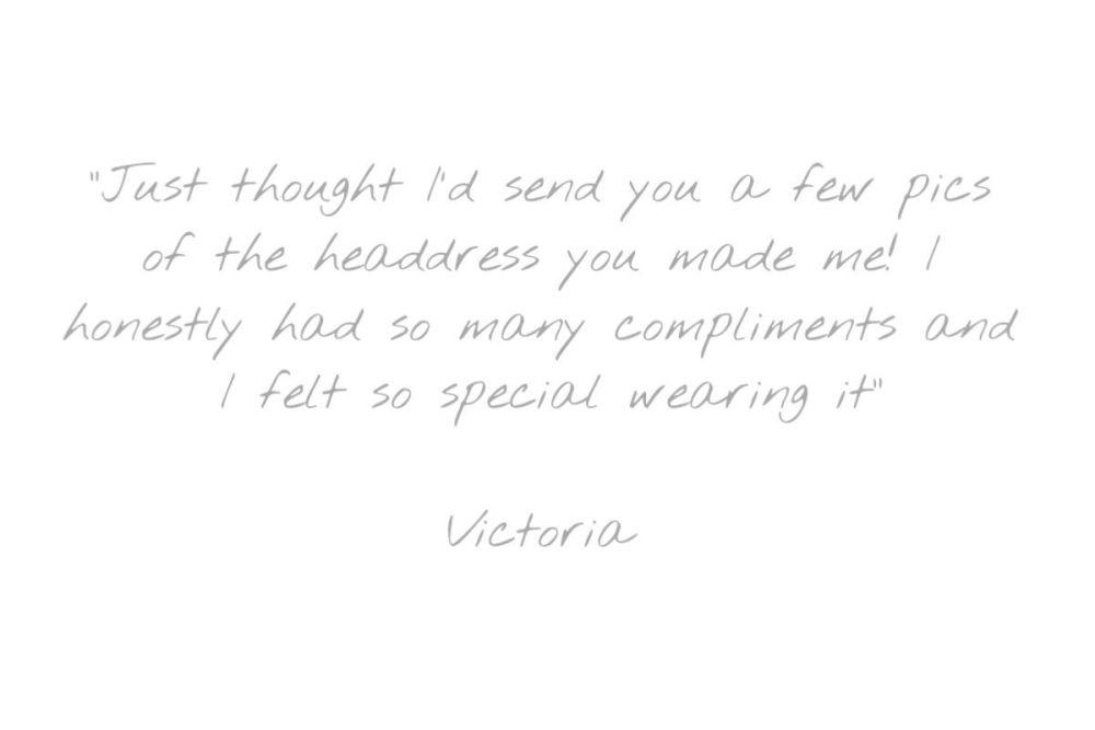 Testimonial - Victoria