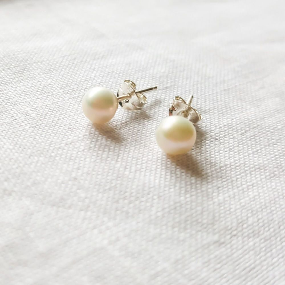 Delicate Tiny Pearl Studs