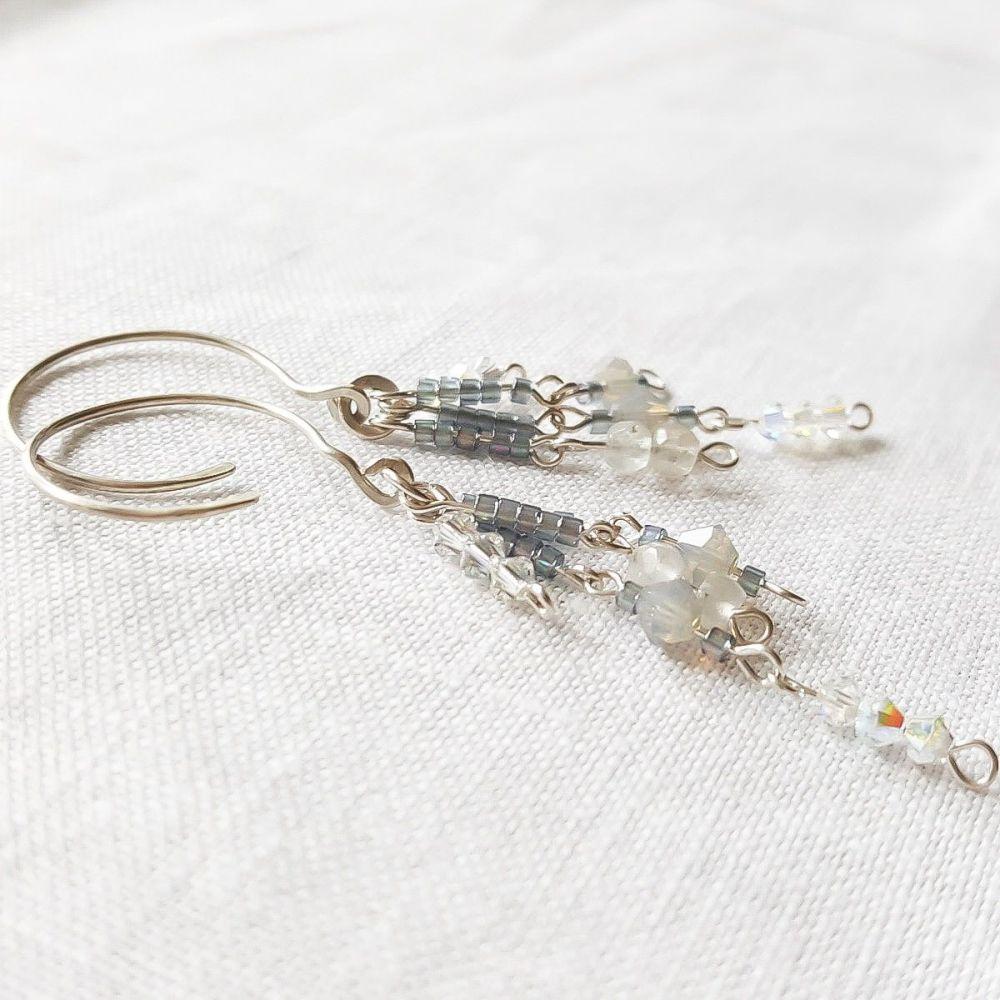 Modern Victoriana Aquamarine Statement Earrings