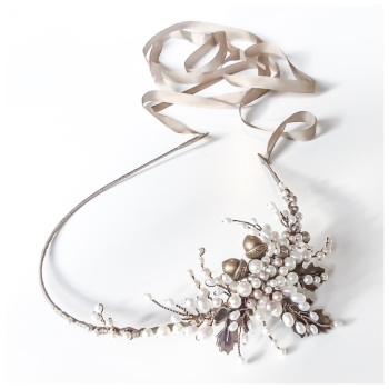 Aubrey Oak Leaf and Acorn Headdress