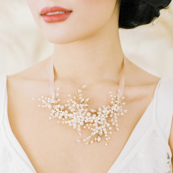 LUMI | Diamante and Crystal Statement Wedding Headpiece and Necklace