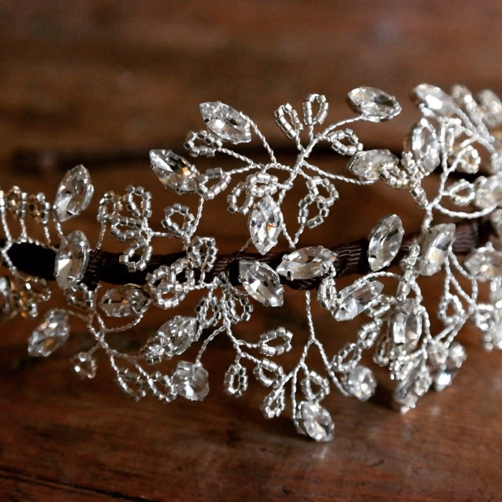 Vintage Inspired Diamante Headdress
