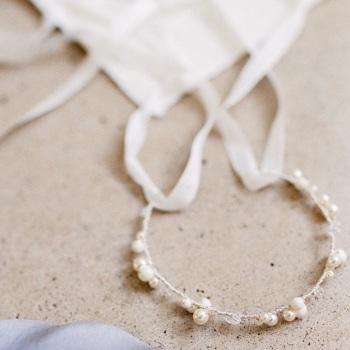 EIRA | Bridal Pearl Bracelet Cuff or Mini Hair Vine