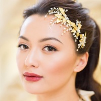 THERA | Grecian Gold Leaf Wedding Hair Pin Trio