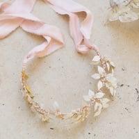 LEUCE | Hand Painted Statement Wedding Leaf Crown or Neckpiece