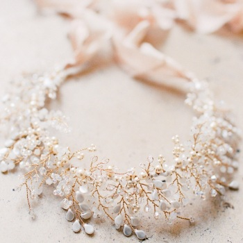 EN HIVER | Statement Jewelled Bridal Crown or Neckpiece