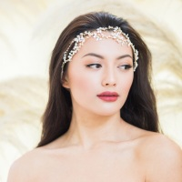EN HIVER | Symmetrical Ribbon Tie Bridal Headpiece