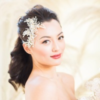 EN HIVER | Statement Gold Bridal Headpiece
