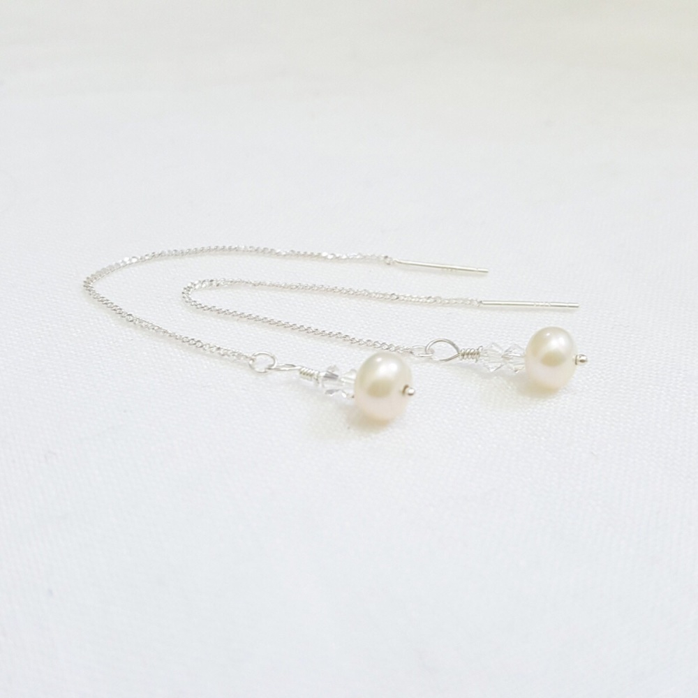Eira Freshwater Pearl Threader Earrings