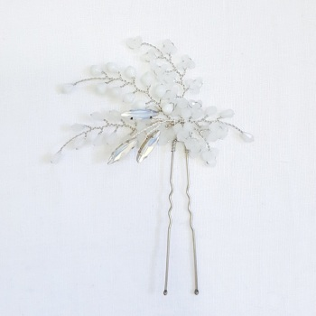 ISABELLINE | White Opal Statement Hair Pin