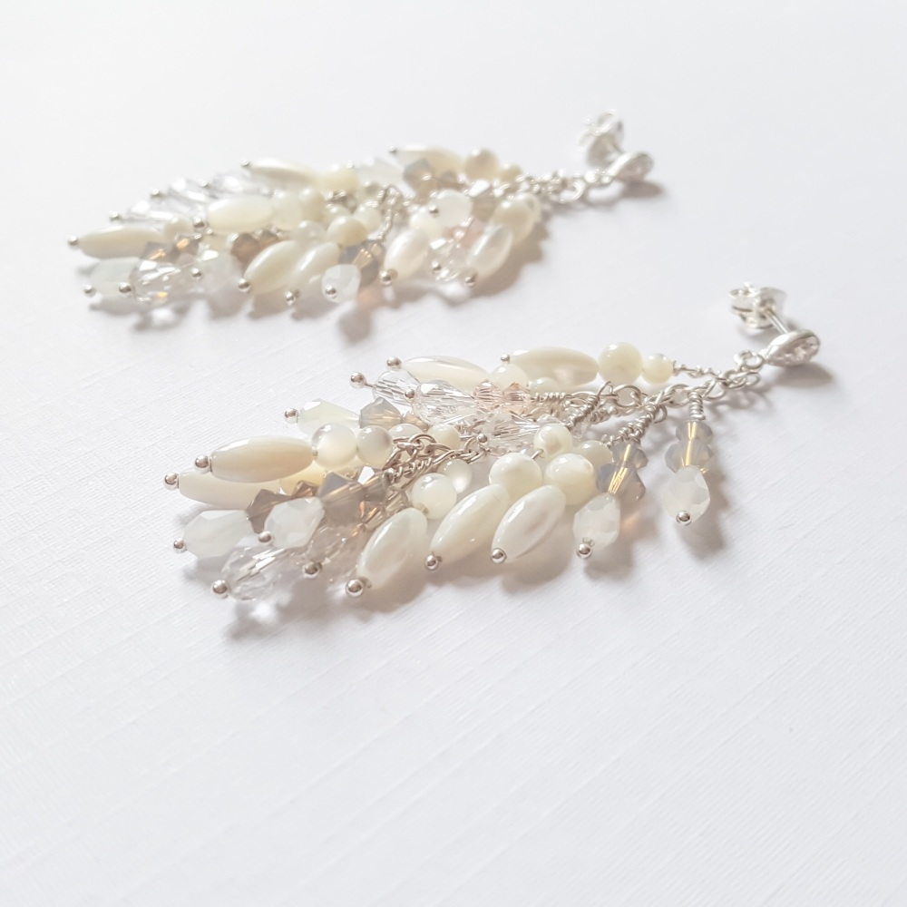 Gardenia Statement Earrings