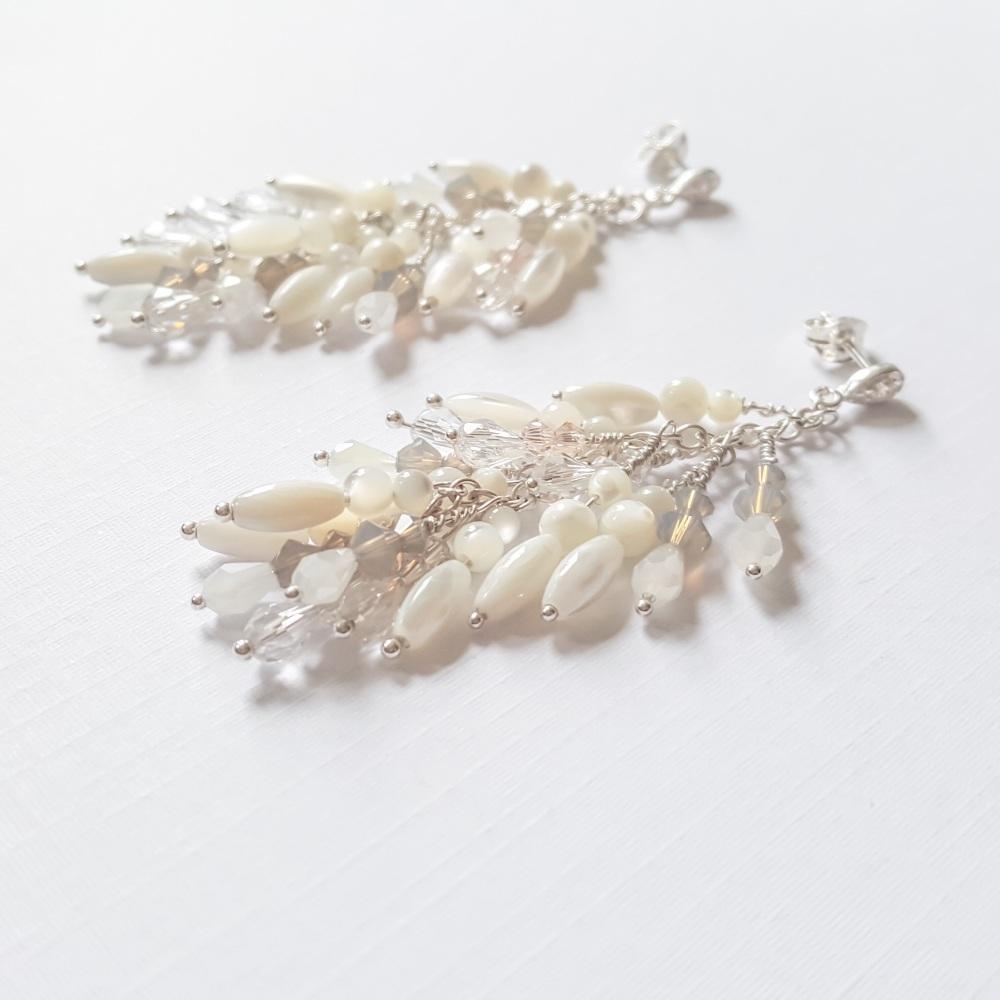Gardenia Statement Earrings