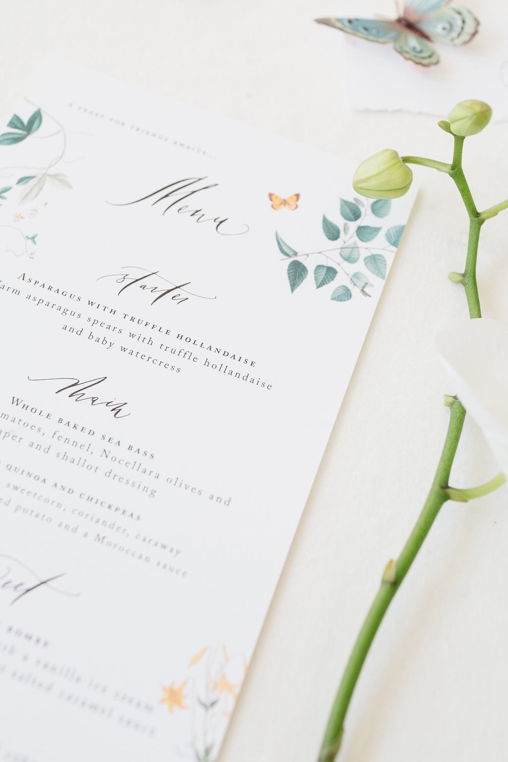 Bowtie and Belle Photography Laura Elizabeth Patrick Calligraphy