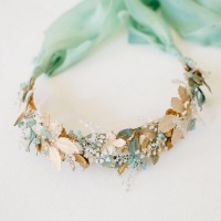 AURELIA | Statement Pale Gold and Verdigris Bridal Crown