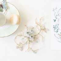 IO | Floral Bridal Headpiece