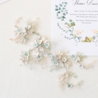 CELASTRINA | Palest Blue Floral Bridal Headpiece