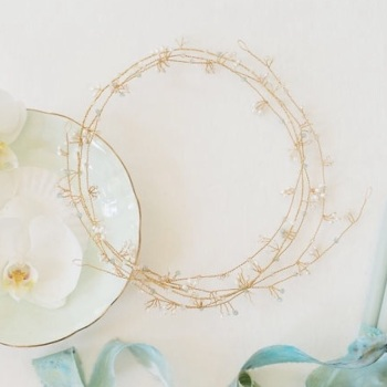 MAERA | Elegant Freshwater Pearl Wedding Hair Vine