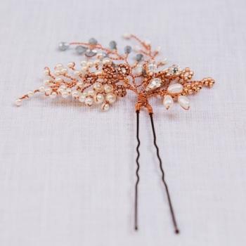 Autumn Copper Sapphire Pin