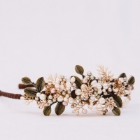 AUTUMN LEAVES | Asymmetric leaves and pearls Wedding Headdress