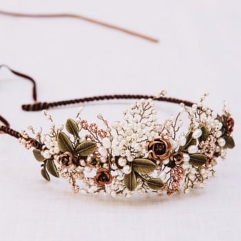 AUTUMN ROSES | Copper Wedding Headdress