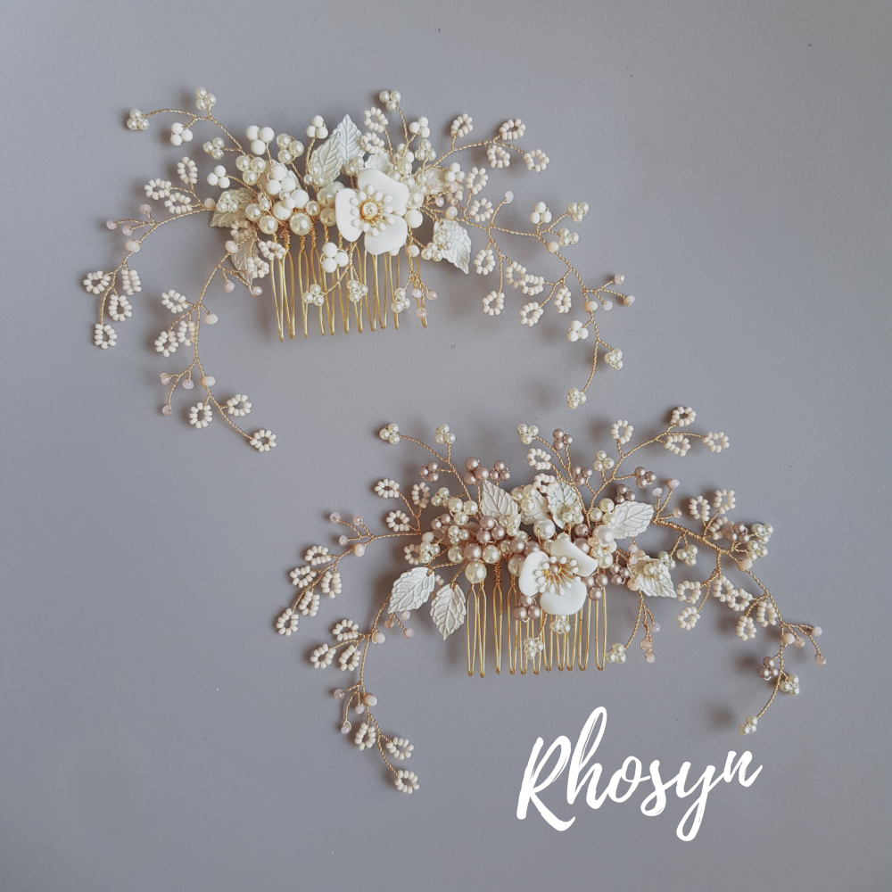 Rachel Burgess Bridal Boutique Rhosyn Hair Comb