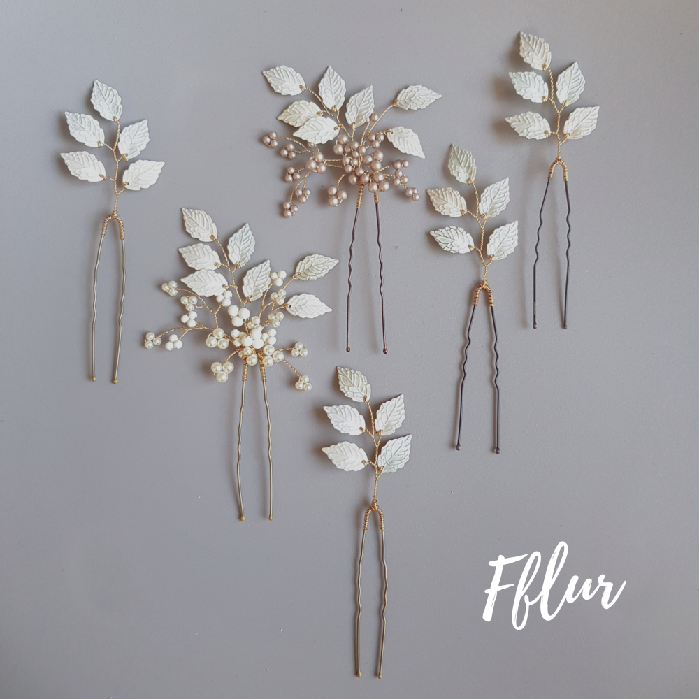 Rachel Burgess Bridal Boutique Fflur hair pins