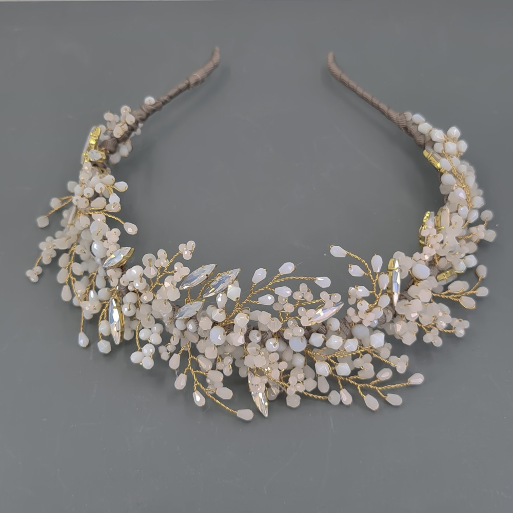 Isabelline White Opal Headdress
